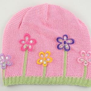Dievčenská čapica Lacka, svetloružová