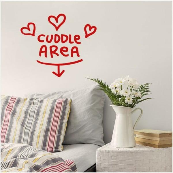 Samolepka Cuddle Are 28x31 cm, červená