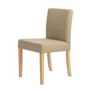 Béžová stolička s prírodnými nohami Custom Form Wilton