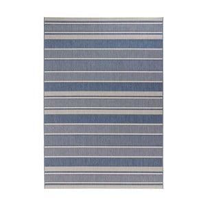 Modrý koberec vhodný aj do exteriéru Strap, 160×230 cm