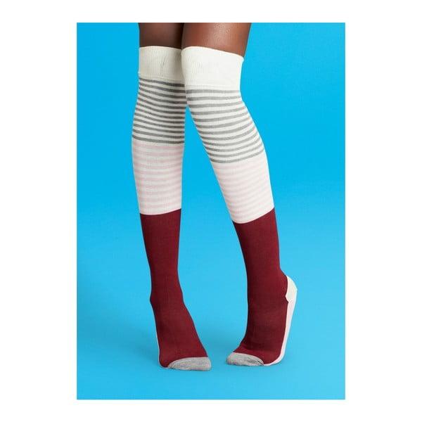 Nadkolienky Happy Socks White and Red, vel. 36-40