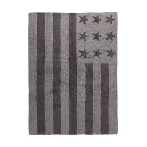 Sivý bavlnený ručne vyrobený koberec Lorena Canals USA, 120 x 160 cm
