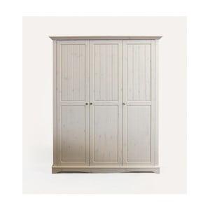 Biela šatníková skriňa z borovicového dreva Steens Lotta, 201,8 × 169,3 cm