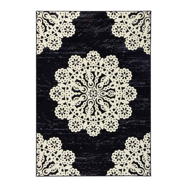Čierny koberec Hanse Home Gloria Lace, 160x230cm