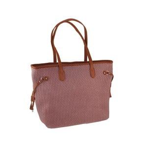Ružová kožená kabelka Florence Merga