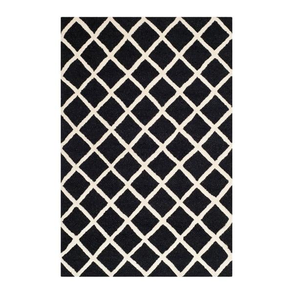 Vlnený koberec Sophie Black, 121x182 cm