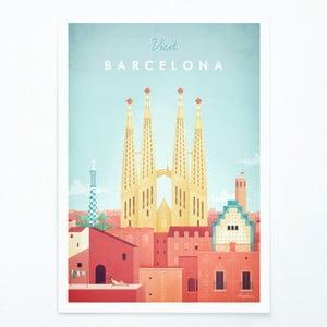 Plagát Travelposter Barcelona, A2