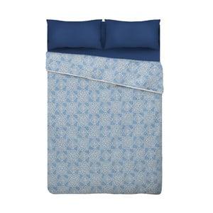 Modrá prikrývka cez posteľ z mikrovlákna Unimasa Oriental, 235 x 260 cm