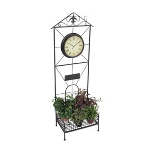 Záhradný stojan na kvety s hodinami ADDU