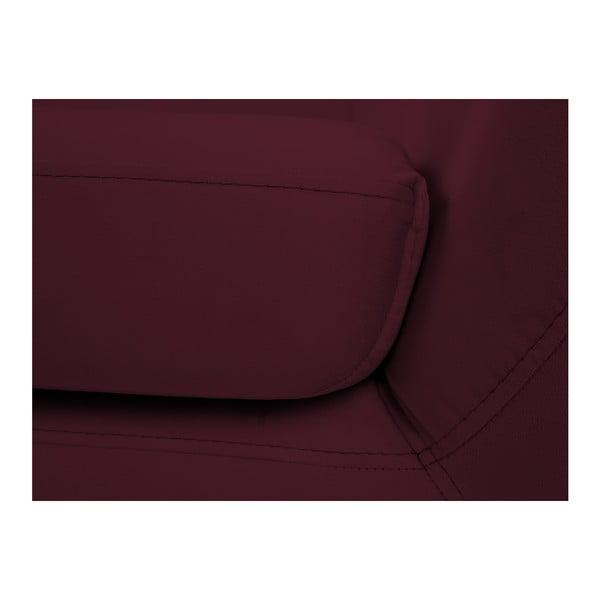 Vínovočervená dvojmiestna pohovka s čiernymi nohami Mazzini Sofas Benito