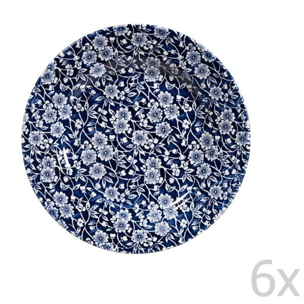 Sada 6 tanierov Victorian Calico Mint, 20 cm