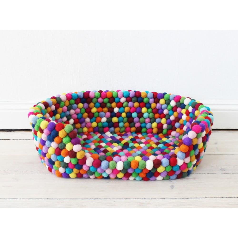 Guľôčkový vlnený pelech pre domáce zvieratá Wooldot Ball Pet Basket Multi, 80 x 60 cm
