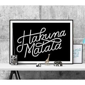 Plagát Hakuna Matata BW, A3