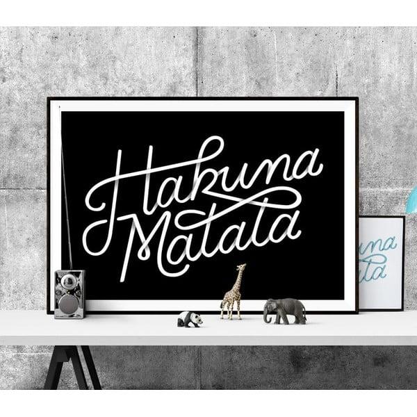 Plagát Hakuna Matata BW, A2