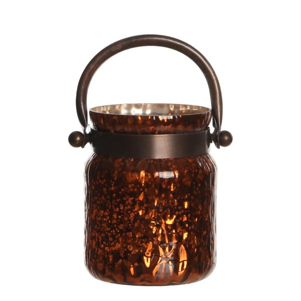Stojan na sviečku Kito Copper Shiny, 18 cm