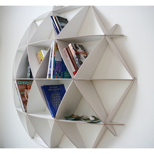 Nástenná knižnica Small Comb White