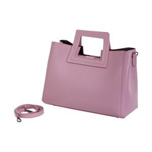 Ružová kabelka z pravej kože Andrea Cardone Pietro