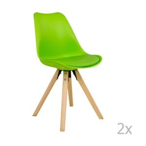 Sada 2 zelených stoličiek House Nordic Bergen