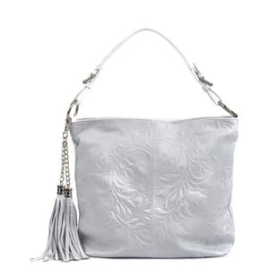 Sivá kožená kabelka Isabella Rhea Larto
