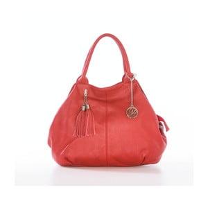 Kožená kabelka Pietro, červená