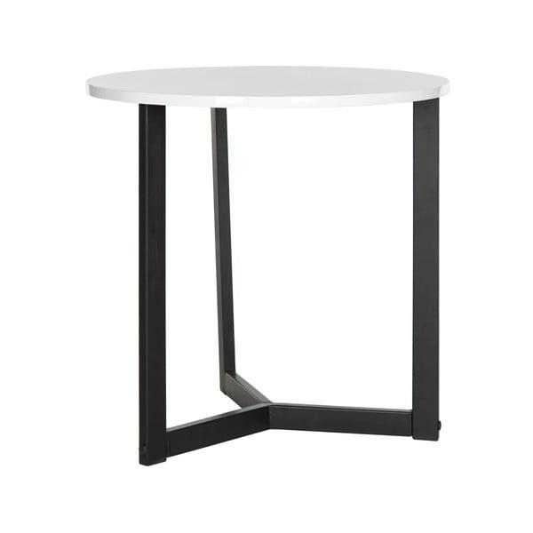 Čierny odkladací stolík s bielou doskou Safavieh Alyssa