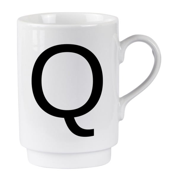 Porcelánový písmenkový hrnček Q
