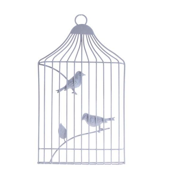 Závesná dekorácia Vtáčiky v klietke