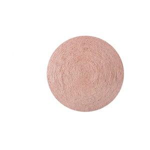 Koberec z juty Linen Rug Circle Rose, ⌀ 140 cm