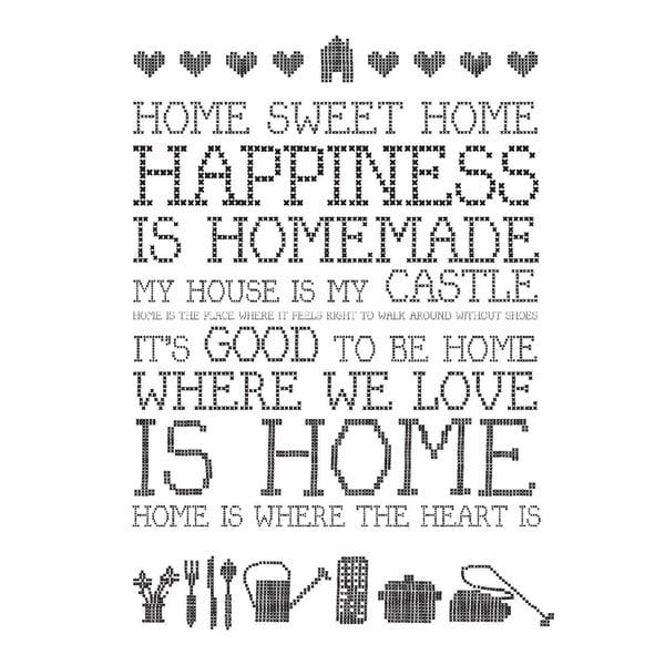 Plagát Home Sweet Home, 30x40 cm