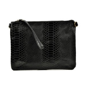 Čierna kožená kabelka Luisa Vannino Dahlia Black