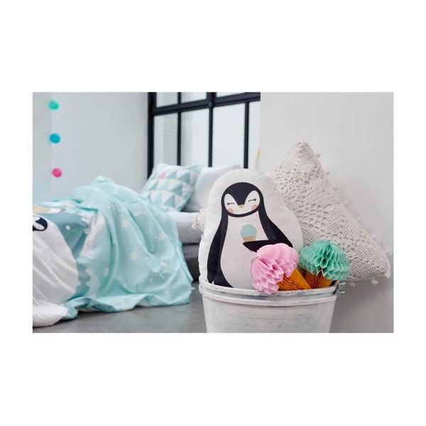 Vankúšik z čistej bavlny Happynois Penguin, 40×30 cm