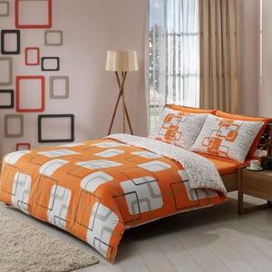 Obliečky Orange Squares s plachtou, 200x220 cm