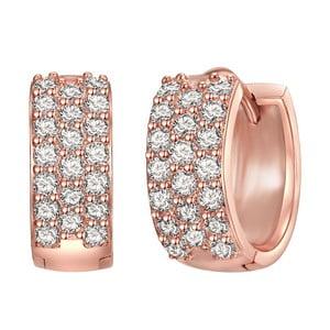 Dámske náušnice vo farbe ružového zlata Runaway Olivia