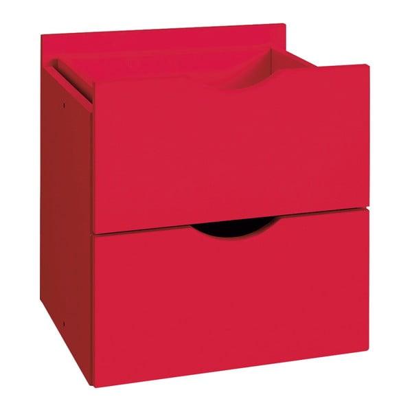Červená dvojitá zásuvka do regálu Støraa Kiera, 33×33cm