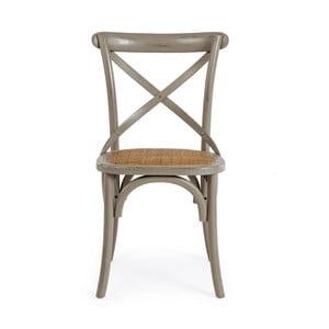 Sivá jedálenská stolička Bizzotto Cross