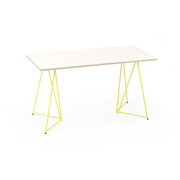 Žltá noha ku stolu Master & Master Diamond Narrow, 70x55cm