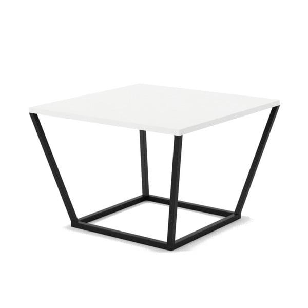 Malý biely konferenčný stôl z mramoru s čiernou podnožou Absynth Noi Brazil