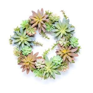 Veniec z umelých sukulentov Wreath