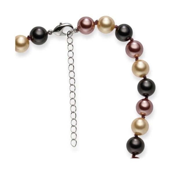 Hnedý perlový náhrdelník Pearls of London Mystic, dĺžka 42 cm
