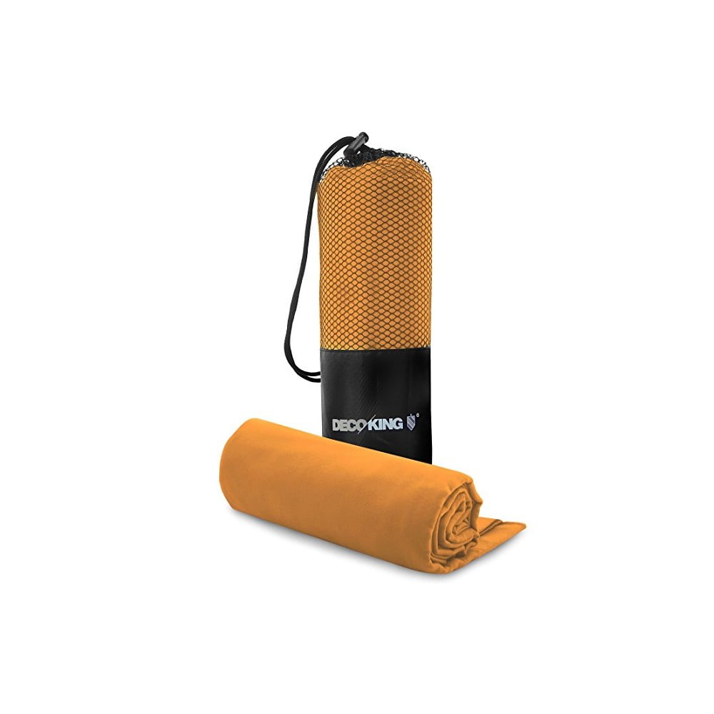 Set oranžovej rýchloschnúcej osušky a uteráku DecoKing EKEA