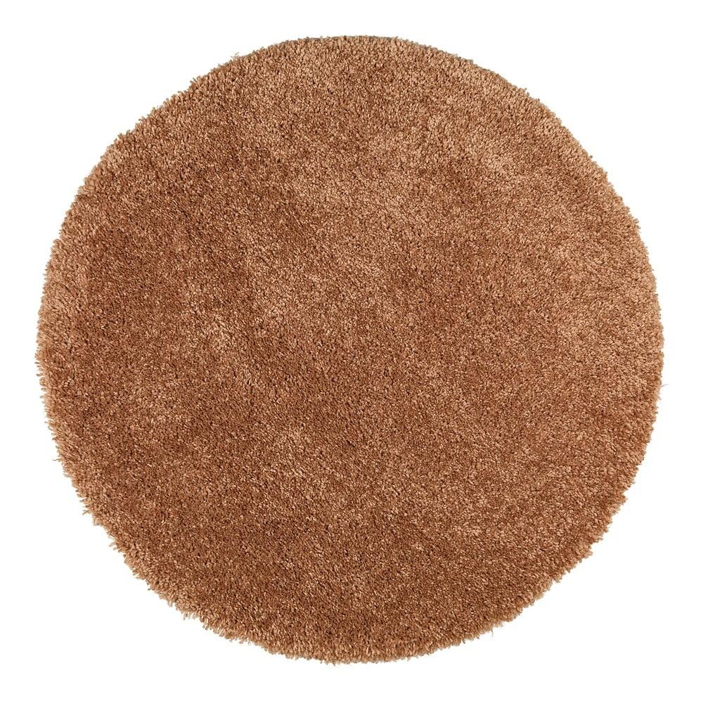 Hnedý koberec Universal Aqua Liso, ø 80 cm