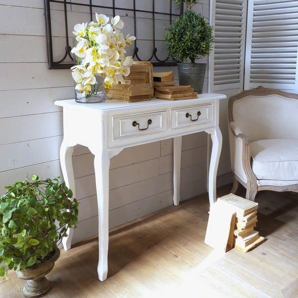 Konzolový stolček White Classic Milano