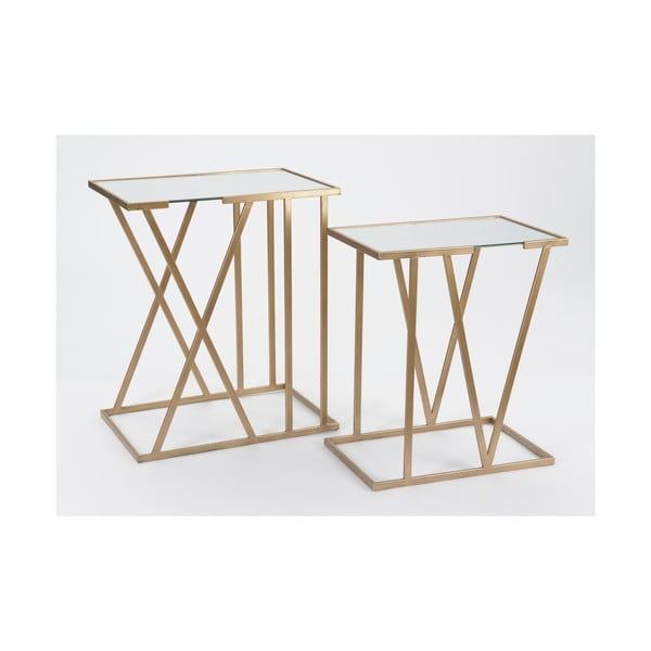 Sada 2 odkladacích stolíkov Metal Table