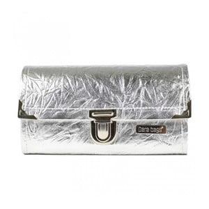 Peňaženka v striebornej farbe Dara bags Purse Big No.761