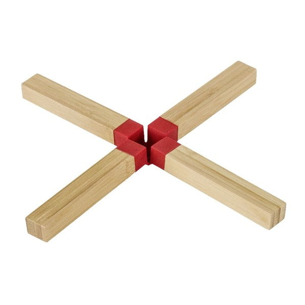 Bambusová podložka pod hrniec Wenko Cross Red