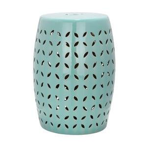Tyrkysový keramický stolík Safavieh Lattice Petal