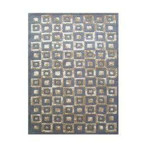 Vlnený koberec Box Grey, 153x244 cm