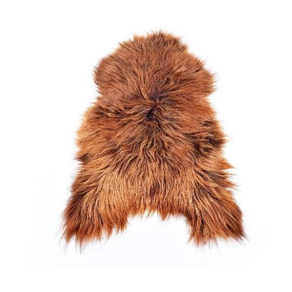 Ovčia kožušina s dlhým vlasom Rusty, 110x60 cm