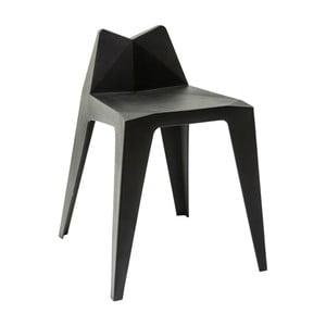 Sada 8 čiernych stoličiek Kare Design Triangle
