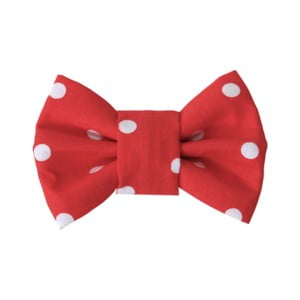 Červený charitatívny psí motýlik s veľkými bodkami Funky Dog, veľ. S
